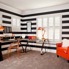 Contemporary Home Office by P. Scinta Designs, LLC