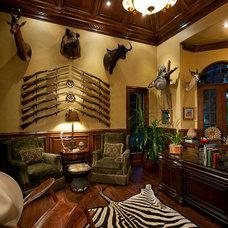 Mediterranean Home Office by Thomason Design