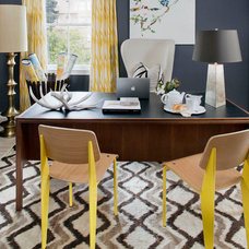 eclectic home office by Green Couch Interior Design