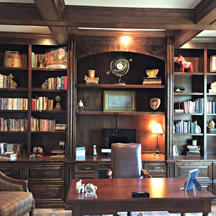 Astonishing 75 Most Popular Little Rock Home Office With Brown Walls Download Free Architecture Designs Embacsunscenecom
