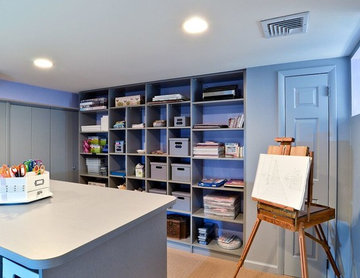 Craft & Hobby Room with Cubbies