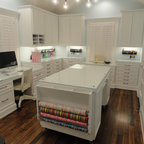 Memorial Hamptons Style Traditional Home Office Houston By Brickmoon Design