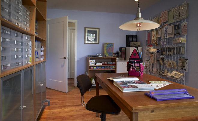 Contemporary Home Office by Harrell Remodeling
