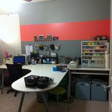 Modern Home Office craft room
