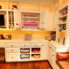Traditional Home Office by Melinda Miles Interiors, LLC
