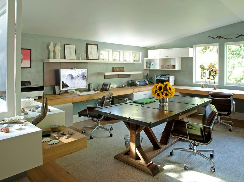 eclectic home office by Katie Leede