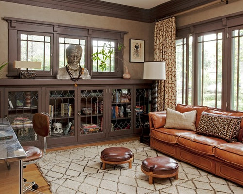 Mid Sized Arts And Crafts Freestanding Desk Light Wood Floor Home Office  Photo In New Part 52