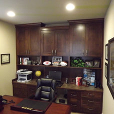 Traditional Home Office by Tony's Custom Cabinets