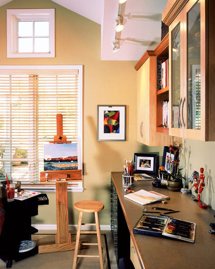 Traditional Home Office by Parrish Construction