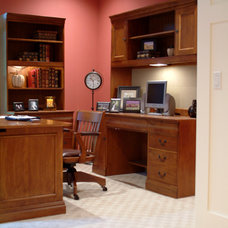 Craftsman Home Office by New Urban Home Builders