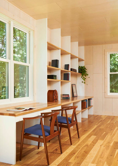 Modern Home Office by Ingrained Wood Studios