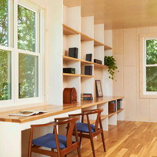 modern home office by Ingrained Wood Studios: The Lab
