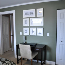 Contemporary Home Office Creating Space for a desk in the bedroom