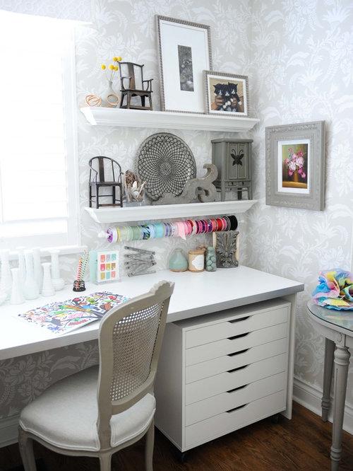 bureau romantique avec un bureau int gr photos et id es. Black Bedroom Furniture Sets. Home Design Ideas
