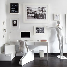 Contemporary Home Office by Lisa Petrole Photography