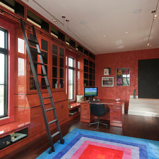 Contemporary Home Office by Southeastern Custom Homes