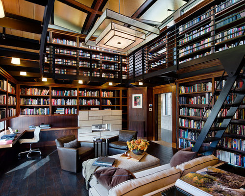 Modern Library Home Design Ideas, Pictures, Remodel and Decor