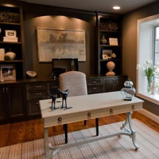 Transitional Home Office by K Taylor Design Group