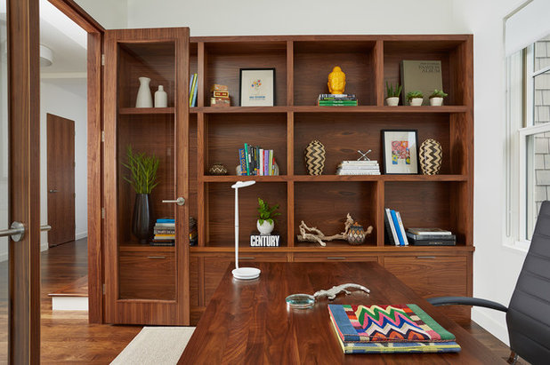 Contemporary Home Office by Charlie & Co. Design, Ltd