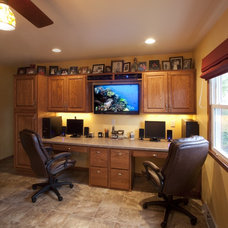 Traditional Home Office by Callen Construction, Inc