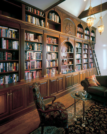 Traditional Home Office by Odhner & Odhner Fine Woodworking Inc.