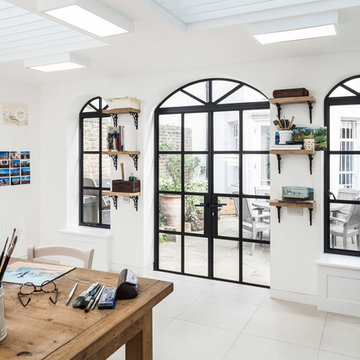 Curved steel windows and doors