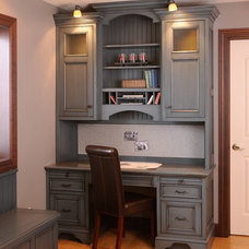 Traditional Home Office by Mullet Cabinet