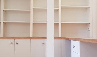 Custom Bookshelf & Cupboard