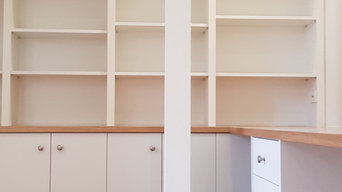 Custom Bookshelf & Cupboard