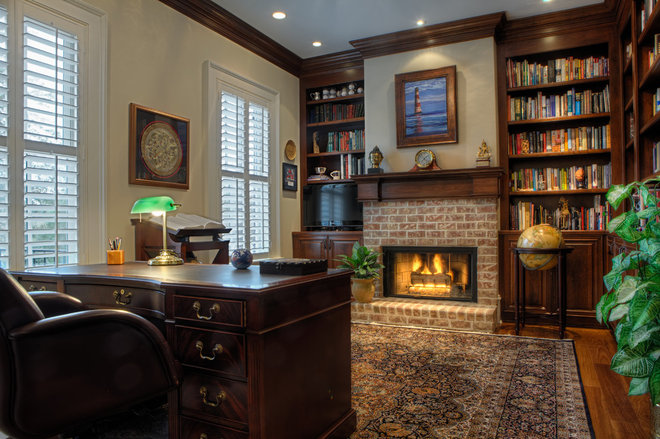 Traditional Home Office by Suiter Construction Company, Inc.