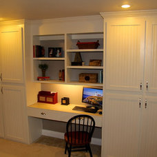 Traditional Home Office by All 4 Show, LLC