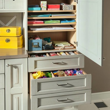 Custom Cabinet Shelves in Embassy Row Gift Wrapping Station