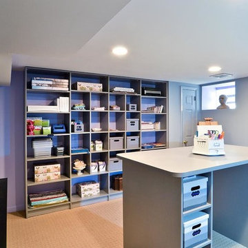 Custom Craft And Hobby Room With Open Storage