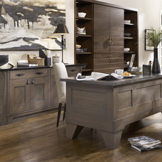 Craftsman Home Office by Casa Verde Design