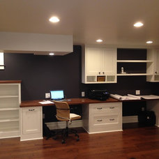 Craftsman Home Office by SEI Construction, Inc