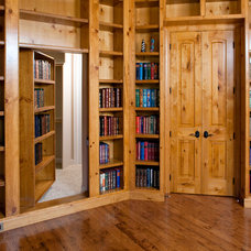 Traditional Home Office by John K Construction Inc.