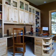 Eclectic Home Office by Closet & Storage Concepts