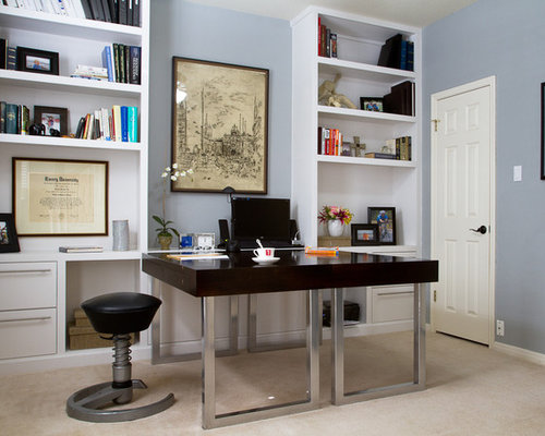 Custom home office home design ideas pictures remodel Custom home office design