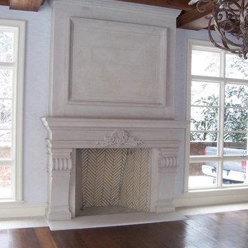 Custom Limestone Fireplaces