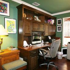 Farmhouse Home Office by Pacific Coast Custom Design
