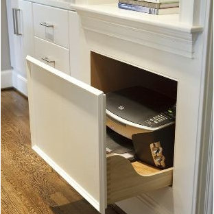 Hidden Printer Home Office Contemporary Idea In Chicago
