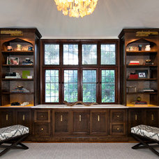 Transitional Home Office by Clean Design