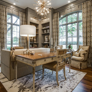 Tuscan home office photo in Dallas