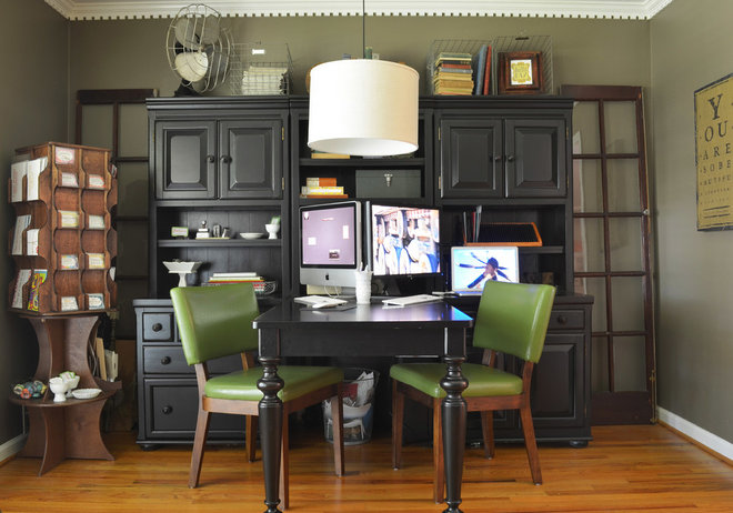 Traditional Home Office by Sarah Greenman