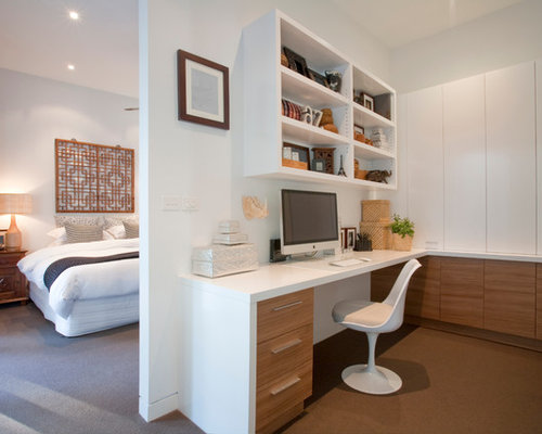 Pleasing Best Home Office Bedroom Design Ideas Remodel Pictures Houzz Largest Home Design Picture Inspirations Pitcheantrous