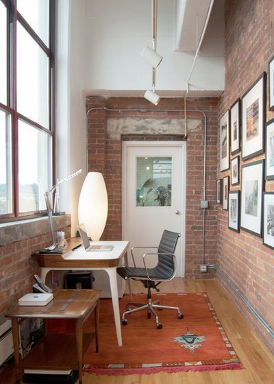 Industrial Home Office & Library by Adrienne DeRosa