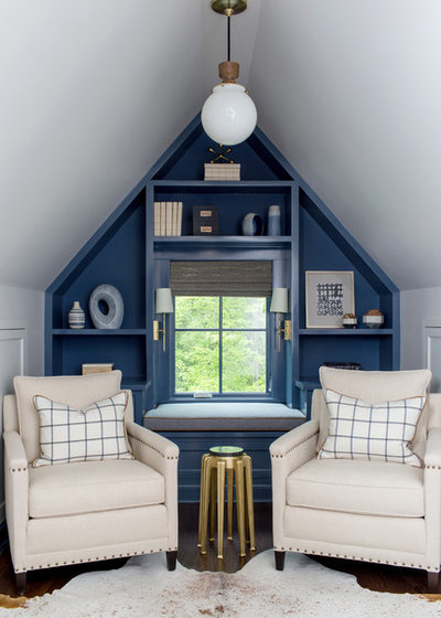 Transitional Home Office by Roost Interiors