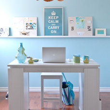 eclectic home office by At Home Interior Design