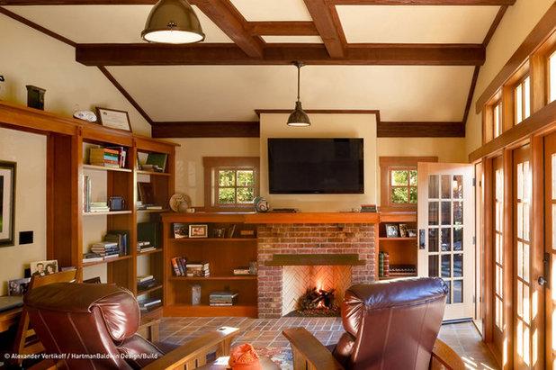 Craftsman Home Office by HartmanBaldwin Design/Build