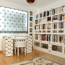 Contemporary Home Office by Niki Interiors, LLC